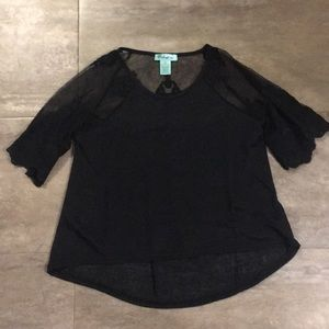 Tops - Women's Black Lace Top NWOT Size Small